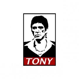 Tony Montana parodia camiseta blanca obedecer
