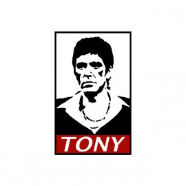 tony montana parody t-shirt obey white