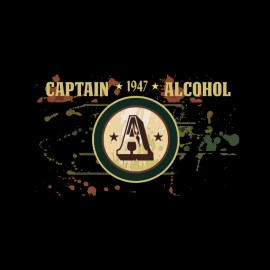 captin black shirt alcohol