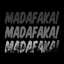 Negro Camiseta Madafaka