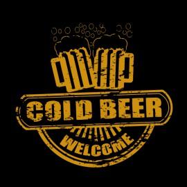 negro camiseta de la cerveza fría