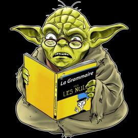 "Tee Shirt Yoda ""nul en grammaire il est"" noir"