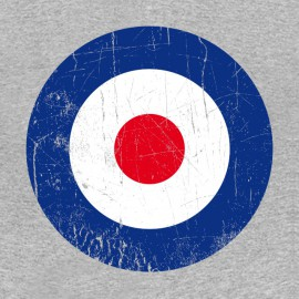 RAF roundel t-shirt the who gray