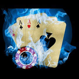 Poker black shirt Firerblue