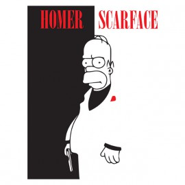 shirt parody black scarface homer simpson