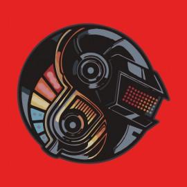 tee shirt DAFT PUNK YIN YANG red