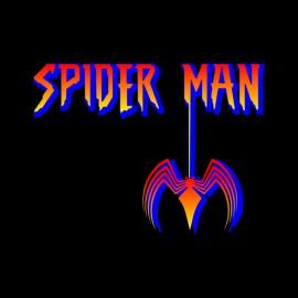 camisa de hombre araña negro