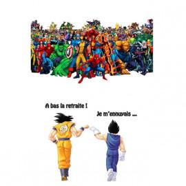 Goku y Vegeta camisa de Marvel Vs blanca