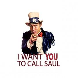 Llame a Saúl camiseta Quiero que dar malas negro