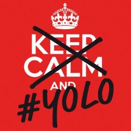Tee Shirts Guarde la calma YOLO Rojo