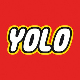 Tee Shirt YOLO lego red