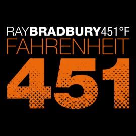 Tee Shirt Fahrenheit 451 noir
