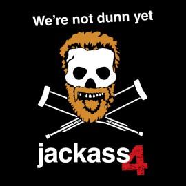 camiseta del negro de la camisa de Jackass