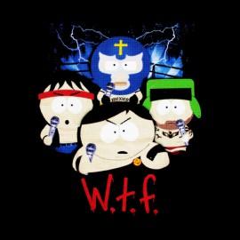 black t-shirt South Park