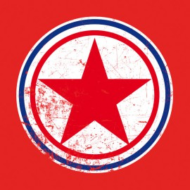 Tee Shirts Corea del Norte redondel rojo
