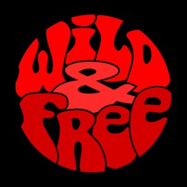 Tee Shirts salvaje y libre rojo en Negro
