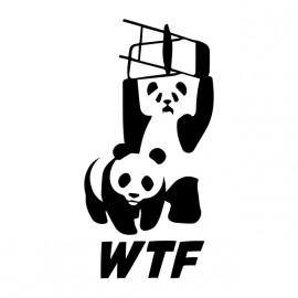 camisa de la WWE y WWF Panda wtf blanco