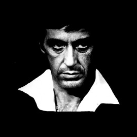 shirt tony montana black frame