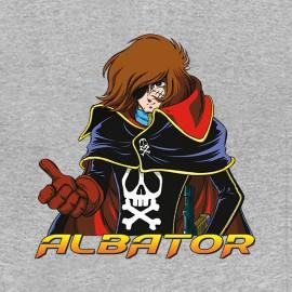 tee shirt albator logo gris