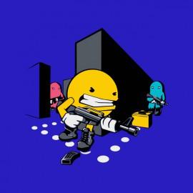 tee shirt Callofdotty Pacman blue