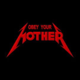Tee Shirts Obey Your Red Madre en Negro