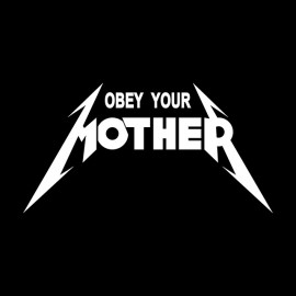 Obey Your Mother White t-shirt we Black