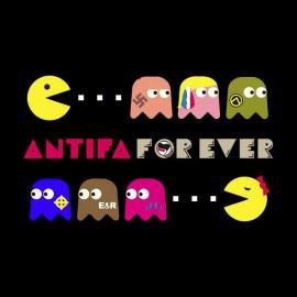 pacman camiseta antifa negro