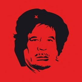 Gaddafi red shirt che