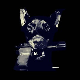 tee shirt doberman gangster noir