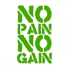 Tee Shirts No Pain No Gain verde en blanco