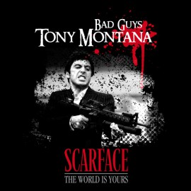 Tee Shirt Bad Guys-Tony Montana SCAREFACE