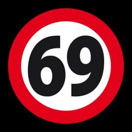 Camiseta 69 sesenta y nueve NEGRO