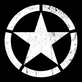 US Roundel Tee Shirt Black Star
