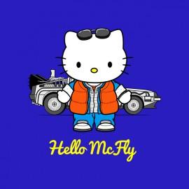 blue t-shirt hello mcfly