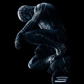 tee shirt spiderman black