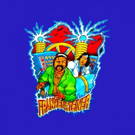 The Steiner Brothers shirt blue Frankensteiner
