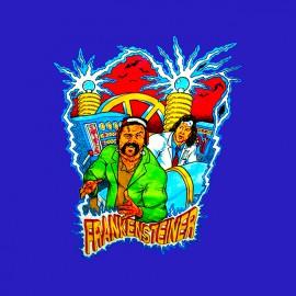 tee shirt Steiner Brothers Frankensteiner blue