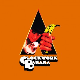 tee shirt clockwork banana orange