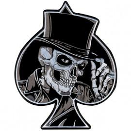 own skull spade white