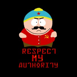 shirt eric cartman respect my authority black Communist Version