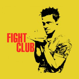 Camisa club de la lucha puesto de color amarillo