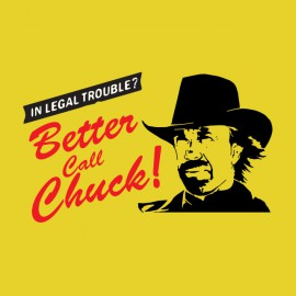 tee shirt better call chuck parodie better call saul jaune