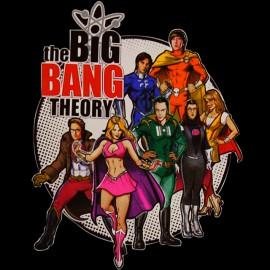 shirt Big Bang Theory black heroes