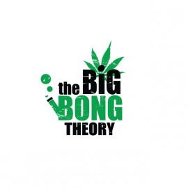 Camisa blanca de la gran teoría bong