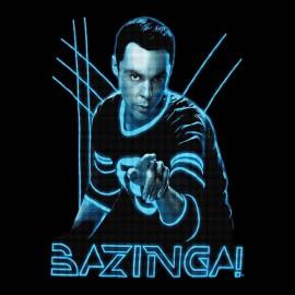 tee shirt bazinga thorn noir