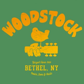 Universidad Camiseta Woodstock 1969 Verde