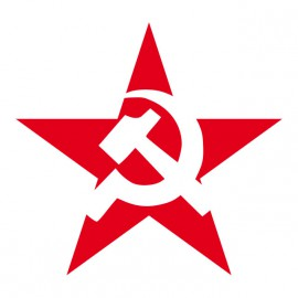 Tee Shirts Rojo soviético Estrella Blanca