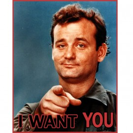Tee Shirt Bill Murray I want you blanc