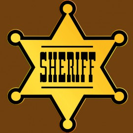Tee Shirt Star of Sheriff Brown