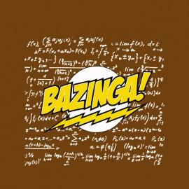 Bazinga camisa marrón con los cálculos de química física